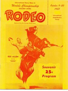 rex allen rodeo program
